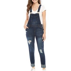 3 LEFT!👖 RIPPED SKINNY JEAN OVERALLS Sizes 5 9 13